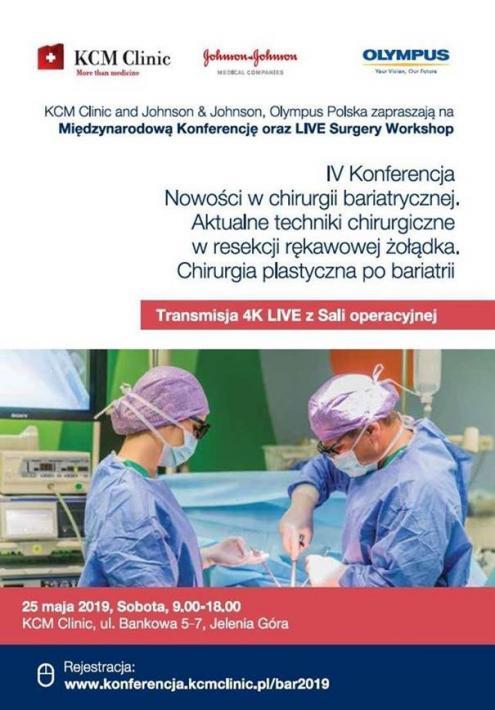 IV Międzynarodowa Konferencja i Warsztaty LIVE 4K w Chirurgii Bariatrycznej